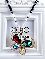 Women's Pendant Necklaces Crystal Alloy Pendant Necklaces , Fashion European Gift Daily