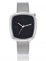 abordables -Mujer Reloj Casual Reloj de Moda Reloj de Vestir Reloj de Pulsera Chino Cuarzo Aleación Metálica Banda Lujo Casual Plata