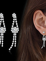 Women's Drop Earrings Cubic Zirconia Rhinestone Cubic Zirconia Line Jewelry For Wedding Party