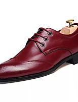 cheap -Men's Shoes Fall Light Soles Oxfords for Casual Black Gray Burgundy
