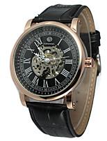 Недорогие -FORSINING Муж. Повседневные часы Модные часы Наручные часы С автоподзаводом Кожа Группа На каждый день Cool