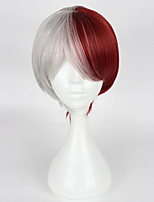 cheap -Women Synthetic Wig Capless Short Burgundy With Bangs Party Wig Halloween Wig Cosplay Wig Costume Wig