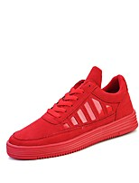 cheap -Men's Shoes PU Spring Fall Light Soles Sneakers For Casual Red Gray Black