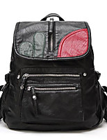 cheap -Women Bags PU Backpack Pockets for Outdoor All Season Black Red