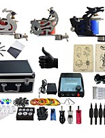 Basekey Professional Tattoo Kit Platnum 2 Machines  Liner & Shader With Power Supply Grips Cleaning Brush  Needles