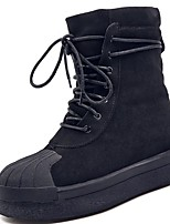 cheap -Women's Shoes Rubber Winter Combat Boots Boots Round Toe For Outdoor Khaki Black