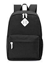 Women Bags Canvas School Bag Zipper for Casual All Season Black Gray
