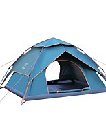 preiswerte -Sheng yuan 3-4 Personen Zelt Doppel Camping Zelt Einzimmer Automatisches Zelt Bergsteigen Faltbar für Camping / Wandern / Erkundungen