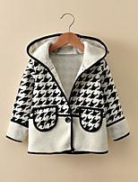 Girls' Grid/Plaid Patterns Jacket & Coat,Cotton Long Sleeves