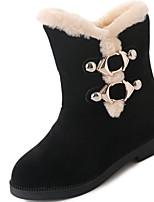 abordables -Femme Chaussures Gomme Hiver Bottes de neige Bottes Bout rond Pour Noir Rouge