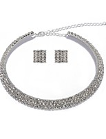cheap -Women's Stud Earrings Necklace Rhinestone Classic Party Imitation Diamond Alloy Geometric 1 Necklace Earrings