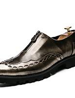 Недорогие -Для мужчин обувь Дерматин Весна Удобная обувь Модная обувь Кеды Назначение Повседневные Золотой Черный