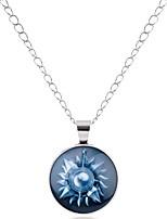 cheap -Men's Women's Geometric Metallic Vintage Hiphop Cool Pendant Necklace Glass Alloy Pendant Necklace , Party Date