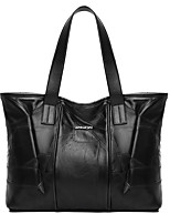 cheap -Women Bags PU Tote Zipper for Shopping Office & Career All Season Black