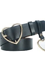 Women's Wide Belt,Casual Solid