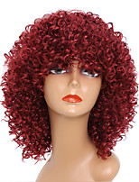 cheap -Cheap Women Red Color Synthethic Wig Top Selling Medium Long Afro Kinky Curly Synthetic Hair Wigs For Black Women