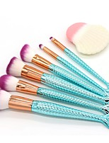 7 pcs Makeup Brush Set Synthetic Hair Full Coverage Plastic Face