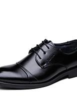 Masculino sapatos Pele Primavera Outono Conforto Oxfords Cadarço Para Casual Preto