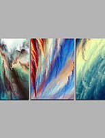 cheap -Hand-Painted Abstract Horizontal Panoramic,Modern Three Panels Canvas Oil Painting For Home Decoration