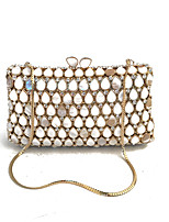 Women Bags Glasses Metal Evening Bag Crystal Detailing for Wedding Event/Party Spring Fall Gold