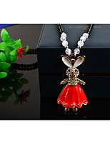 Women's Pendant Necklaces Alloy Pendant Necklaces , Lovely Fashion European Gift Daily