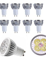 10 pcs 4 w gu10 / e27 / e14 / gu5.3 led projecteur chaud / froid blanc 350lm en aluminium spot ac85-265v