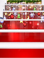 Недорогие -Рождество Наклейки Простые наклейки Декоративные наклейки на стены,Бумага Украшение дома Наклейка на стену For Стена Пол