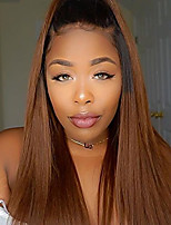 Ombre Color 360 Lace Wig 180% Density Straight Human Virgin Hair Wig with Baby Hair