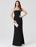 Sheath / Column Spaghetti Straps Floor Length Chiffon Formal Evening Dress with Crystal Detailing by TS Couture®