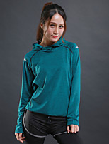 Women's Running T-Shirt Long Sleeves Trainer Fitness Sweatshirt for Running/Jogging Exercise & Fitness Elastane Polyster Grey Green Red
