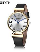 Mulheres Relógio Casual Relógio de Moda Relógio de Pulso Chinês Quartzo Impermeável Couro Banda Casual Elegant Minimalista Preta Branco