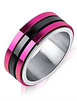 cheap -Men's Band Rings Fashion Korean Titanium Steel Geometric Jewelry For Daily Formal