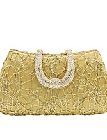 cheap -Women Bags Polyester Evening Bag Crystal Detailing Sequins for Wedding Event/Party All Season Gold
