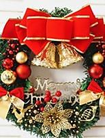 1pc ornamenti natalizi ghirlanda per decorazioni natalizie 30 * 30