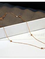 Жен. Ожерелья с подвесками Жемчуг Геометрической формы Жемчуг Золотистый европейский корейский Бижутерия Назначение Свадьба Повседневные