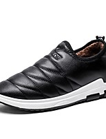 Men's Shoes PU Fall Winter Comfort Loafers & Slip-Ons For Casual Brown Black