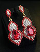 preiswerte -Damen Tropfen-Ohrringe Kubikzirkonia Strass Retro Elegant Titan Österreichisches Kristall Tropfen Schmuck Für Hochzeit Party