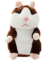 Говорящий хомяк Электронная хомячная мышь Мышь Плюшевая игрушка Милый стиль Прогулки говорящий Повторяет то, что вы говорите Вибрационные