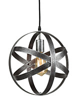 Vintage Industrial Metal Spherical Pendant Lights Dining Room Kitchen Cafe Hanging Lighting Fixture