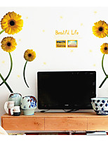 Botanical Floral/Botanical Wall Stickers 3D Wall Stickers Decorative Wall Stickers,Paper Material Home Decoration Wall Decal