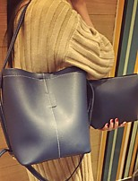 cheap -Women Bags PU Bag Set Buttons for Casual Winter Fall Blue Black Dark Green Wine