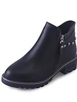 abordables -Mujer Zapatos PU Primavera Otoño Confort Botas Para Negro Gris