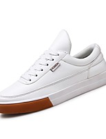 cheap -Men's Shoes Leatherette Spring Fall Comfort Sneakers For Casual Black White