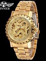 economico -WINNER Per uomo Orologio elegante Orologio da polso orologio meccanico Carica automatica Orologi con incisioni Acciaio inossidabile Banda