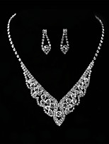 cheap -Women's Drop Earrings Pendant Necklaces Rhinestone Wedding Evening Party Rhinestone