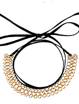 cheap -Women's Irregular European Fashion Choker Necklace Leather Alloy Choker Necklace , Party