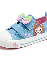 cheap -Girls' Shoes Canvas Spring Fall Comfort Sneakers For Casual Light Blue Pink Dark Blue White