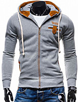 cheap -Men's Daily Hoodie Solid Polyester
