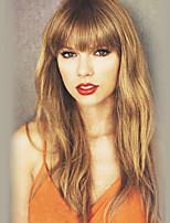 cheap -Women Human Hair Capless Wigs Strawberry Blonde/Light Blonde Medium Auburn Honey Blonde Natural Black Long Straight Natural Hairline