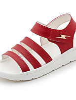 cheap -Girls' Shoes Leatherette Spring Summer Comfort Sandals For Casual Pink Red White